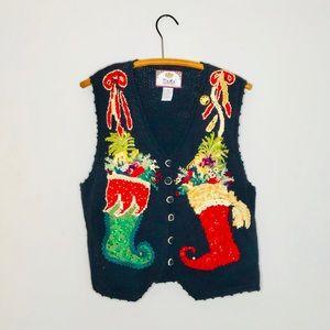 Vintage Retro 90's Knit Funky Christmas Sweater
